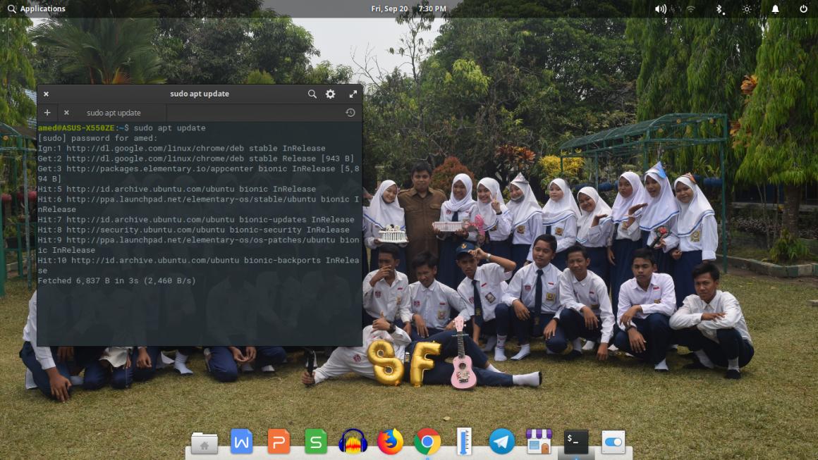 Elementary OS Setelah Dua Pekan